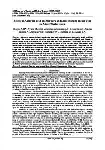 Effect of Ascorbic acid on Mercury-induced changes ... - IOSR journals