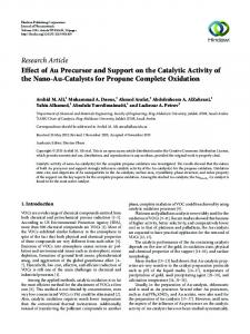 Effect of Au Precursor and Support on the Catalytic Activity of the Nano ...