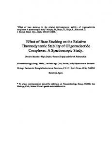 Effect of Base Stacking on the Relative