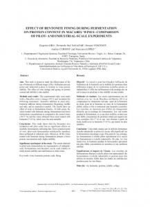 effect of bentonite fining during fermentation on protein ... - OENO One