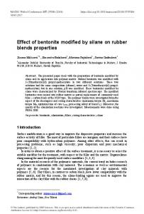 Effect of bentonite modified by silane on rubber blends properties