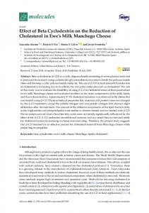 Effect of Beta Cyclodextrin on the Reduction of ...