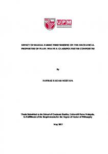 EFFECT OF BIAXIAL FABRIC PRESTRESSING ON ...