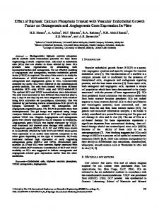Effect of Biphasic Calcium Phosphate Treated with Vascular ...