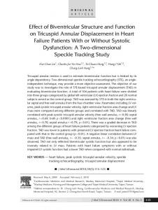 Effect of Biventricular Structure and Function on ... - Science Direct