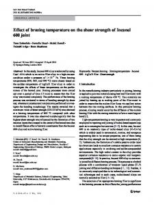 Effect of brazing temperature on the shear strength of ... - umexpert