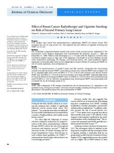 Effect of Breast Cancer Radiotherapy and Cigarette Smoking on Risk ...
