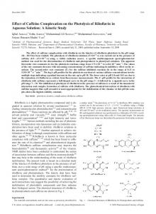 Effect of Caffeine Complexation on the Photolysis of Riboflavin in ...