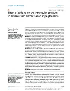 effect of caffeine on the intraocular pressure in ... - Semantic Scholar