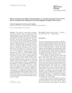 Effect of Calcium and Calcium Channel Blockers on ... - Springer Link