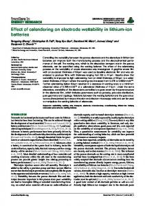 Effect of calendering on electrode wettability in ... - Semantic Scholar