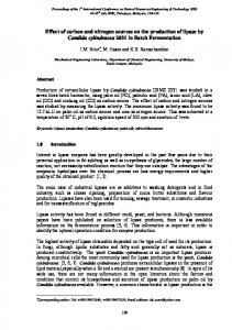 Effect of carbon and nitrogen sources on the ...