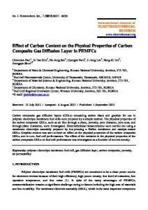 Effect of Carbon Content on the Physical Properties of Carbon ...