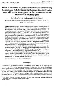 Effect of castration on plasma concentrations of luteinizing rams which ...