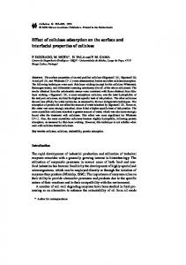 Effect of cellulase adsorption on the surface and interfacial ... - Core