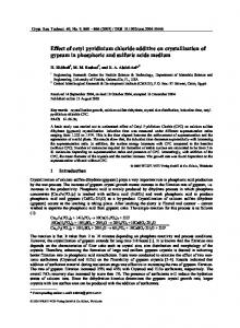 Effect of cetyl pyridinium chloride additive on ... - Wiley Online Library
