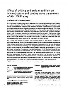 Effect of chilling and cerium addition on microstructure and cooling ...