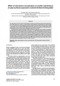 Effect of chloramine concentration on biofilm maintenance on pipe ...