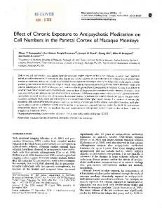 Effect of Chronic Exposure to Aritipsychotic Medication on ... - CiteSeerX