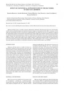 effect of coenzyme q10 supplementation in the rat ... - Semantic Scholar