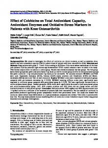 Effect of Colchicine on Total Antioxidant Capacity, Antioxidant ...