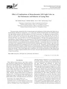 Effect of Combinations of Monochromatic LED Light Color on the ...