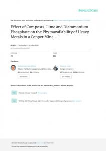 Effect of Composts, Lime and Diammonium