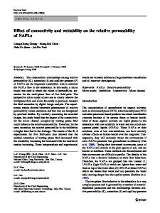 Effect of connectivity and wettability on the relative permeability of