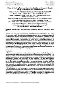 Effect of Cooling Rate and Aluminium Addition on ... - Scientific.net