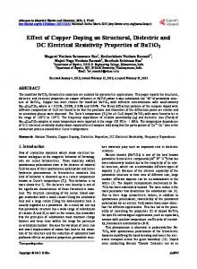 Effect of Copper Doping on Structural, Dielectric