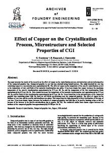 Effect of Copper on the Crystallization Process