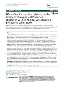 Effect of cotrimoxazole prophylaxis on the incidence of ... - Springer Link