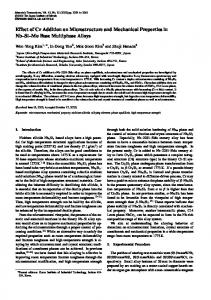 Effect of Cr Addition on Microstructure and Mechanical Properties in
