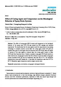 Effect of Curing Agent and Temperature on the ... - CiteSeerX