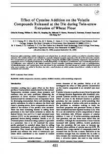 Effect of Cysteine Addition on the Volatile ... - ScienceDirect.com