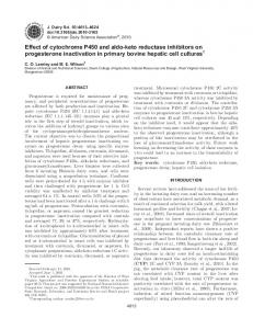Effect of cytochrome P450 and aldo-keto reductase inhibitors on ...
