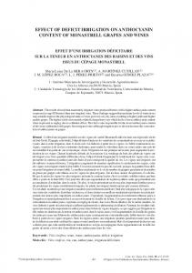 effect of deficit irrigation on anthocyanin content of ... - OENO One