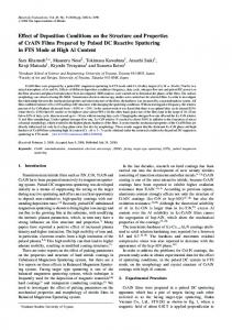 Effect of Deposition Conditions on the Structure and Properties of ...