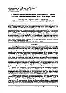 Effect of dielectric variations on performance of