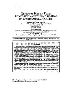 effect of diet on feces composition and the implications on ...