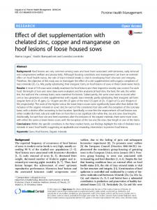Effect of diet supplementation with chelated zinc, copper and ... - Core
