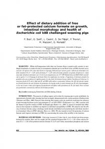 Effect of dietary addition of free or fat-protected calcium formate on ...