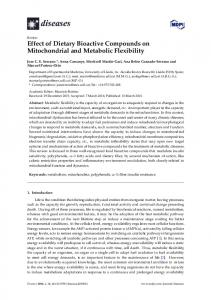 Effect of Dietary Bioactive Compounds on Mitochondrial - MDPI