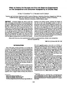 Effect of Dietary Fat Sources and Zinc and