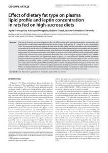 Effect of dietary fat type on plasma lipid profile and leptin concentration