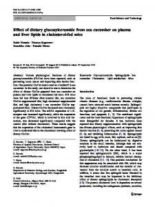 Effect of dietary glucosylceramide from sea cucumber on plasma and ...