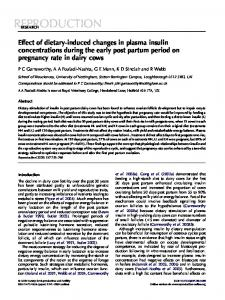 Effect of dietary-induced changes in plasma insulin concentrations ...
