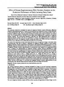 Effect of Dietary Supplementation With Fibrolytic ... - Semantic Scholar