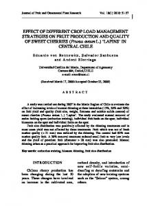 Effect of different crop load management strategies on fruit production ...