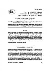Effect of different dietary fumonisin B1 exposure on the toxin content of ...